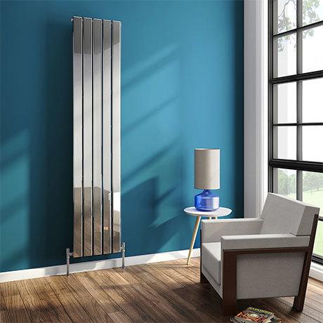 Urban 1800mm Chrome Vertical Single Panel Radiator - Various Widths