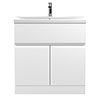 Hudson Reed Urban Satin White 800mm Floor Standing 2-Door/Drawer Vanity Unit - URB105A profile small image view 1