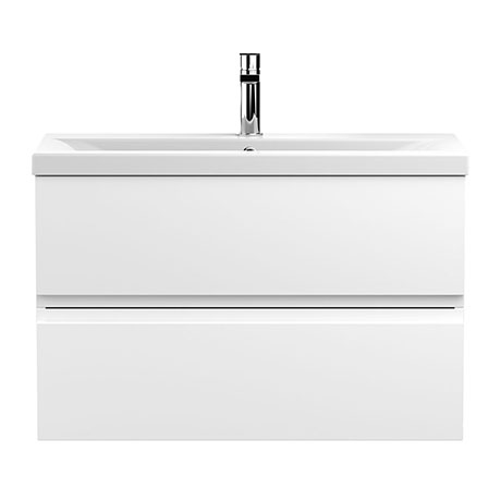Hudson Reed Urban Satin White 800mm Wall Hung 2-Drawer Vanity Unit - URB106A