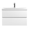 Hudson Reed Urban Satin White 800mm Wall Hung 2-Drawer Vanity Unit - URB106A profile small image view 1