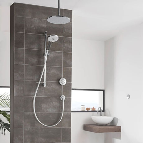 Aqualisa Unity Q Smart Shower Concealed with Adjustable and Ceiling Fixed Heads