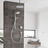 Aqualisa Unity Q Smart Shower Concealed with Adjustable and Ceiling Fixed Heads profile small image view 1