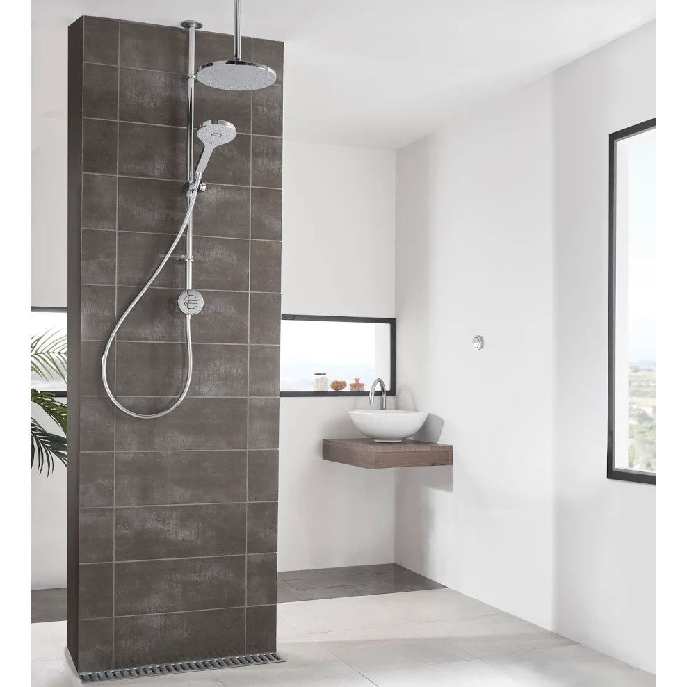 Aqualisa Unity Q Smart Shower Exposed with Adjustable and Ceiling Fixed Head