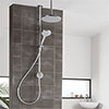 Aqualisa Unity Q Smart Shower Exposed with Adjustable and Ceiling Fixed Head profile small image view 1