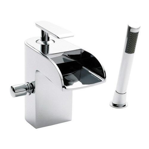 Series U Open Spout Bath Shower Mixer w/ Shower Kit - Chrome - UTY364 Large Image