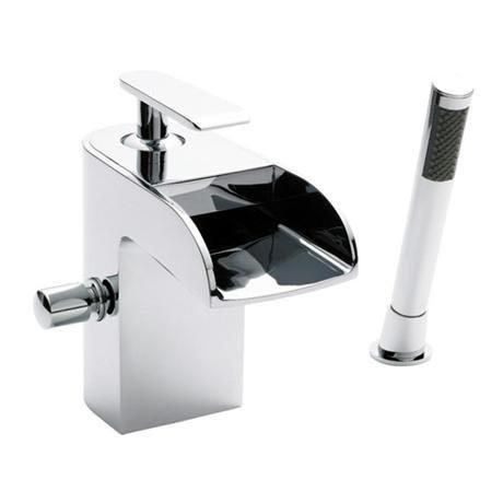 Series U Open Spout Bath Shower Mixer w/ Shower Kit - Chrome - UTY364