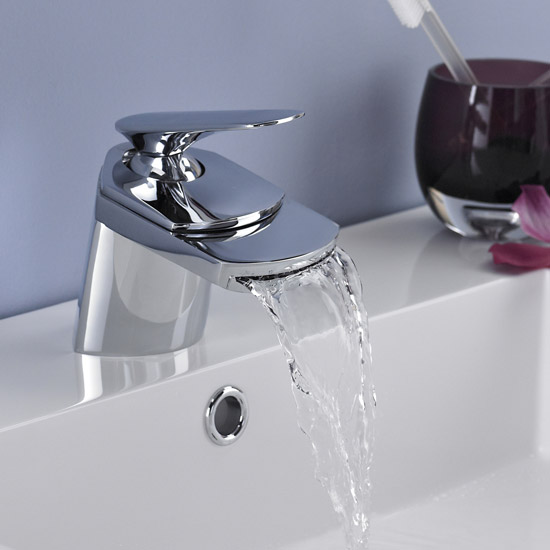 Ultra Marbury Wide Spout Mono Basin Mixer Inc. Waste - UTY385 Profile Large Image