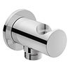 Duravit Round Shower Outlet Elbow & Handset Holder - UV0630007000 profile small image view 1