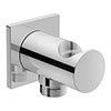 Duravit Square Shower Outlet Elbow & Handset Holder - UV0630026000 profile small image view 1