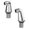 Duravit Pillar Unions for Bath Mixer - UV5700000000 profile small image view 1