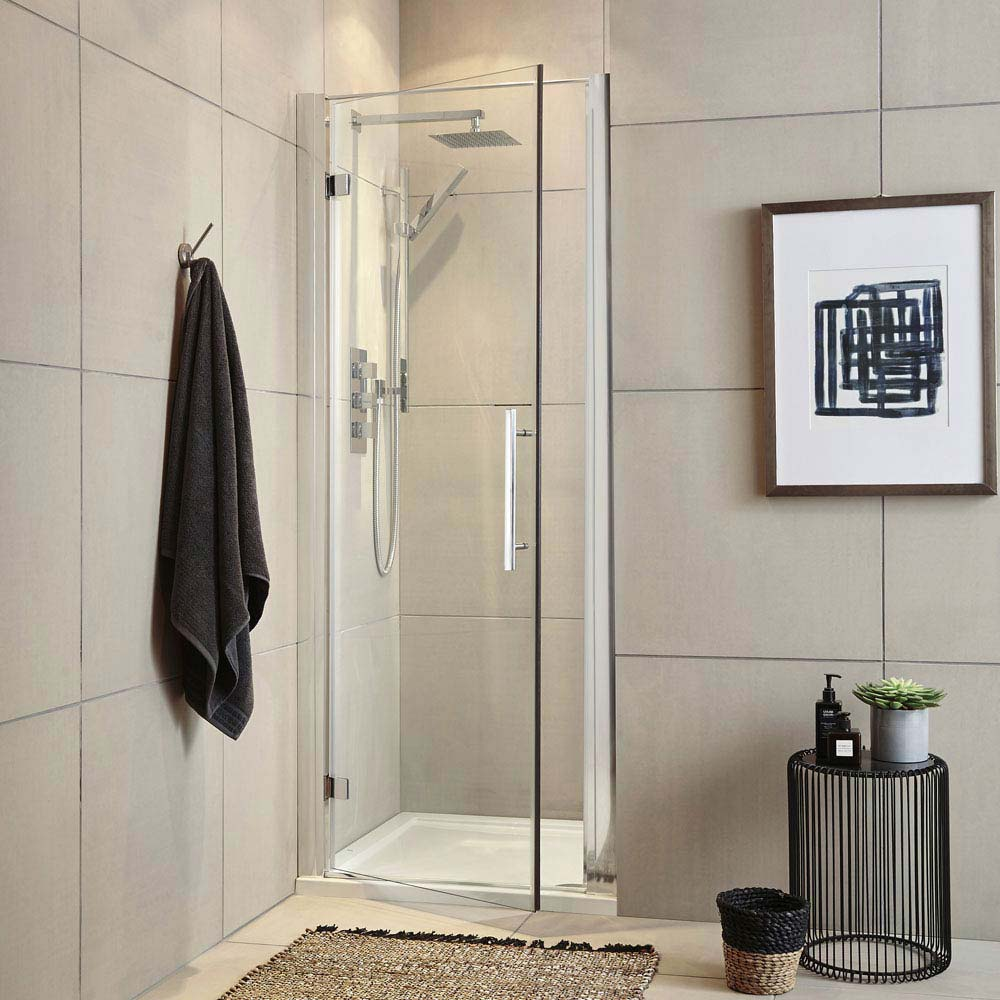 Ultra Apex Hinged Shower Door - Various Size Options Large Image