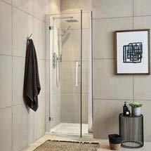 Ultra Apex Hinged Shower Door - Various Size Options Medium Image