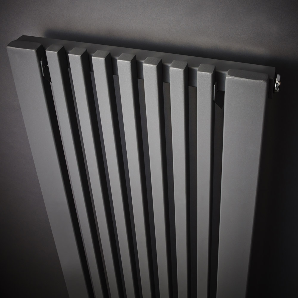 Ultra - Carson Anthracite Designer Radiator - W370 x H1800mm - HLA105 Profile Large Image