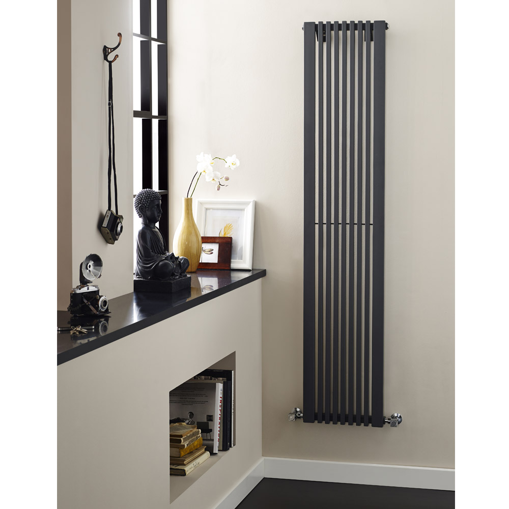 Ultra - Carson Anthracite Designer Radiator - W370 x H1800mm - HLA105 Feature Large Image