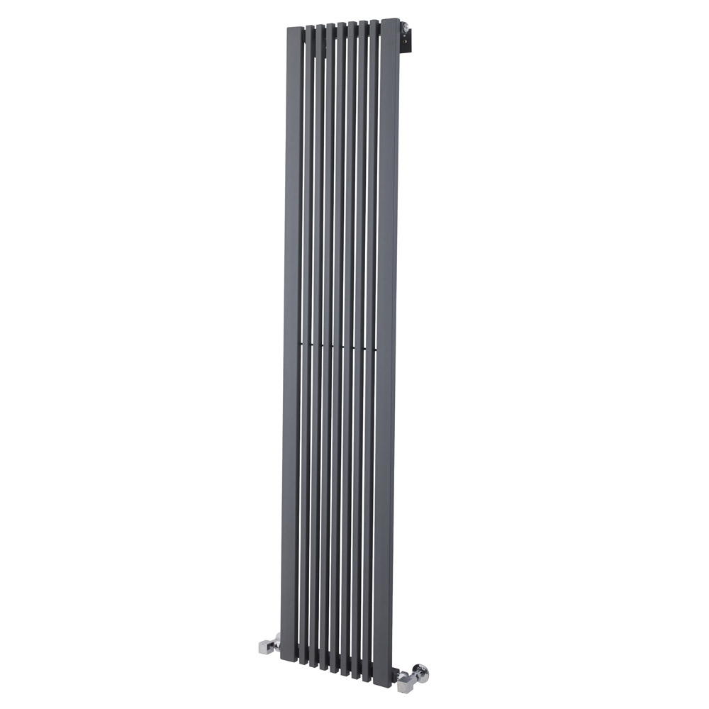Ultra - Carson Anthracite Designer Radiator - W370 x H1800mm - HLA105 Large Image