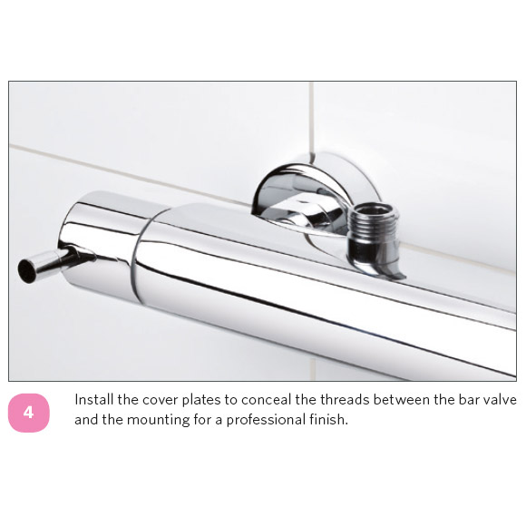 Ultra Chrome Wall Mounted Fixings - A315 In Bathroom Large Image