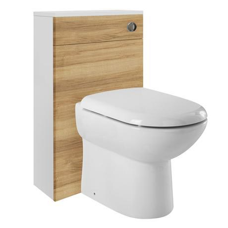 Ultra Design Natural Walnut BTW Toilet Unit Inc. Cistern + Soft Close Seat