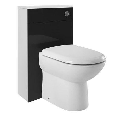 Ultra Design Black BTW Toilet Unit Inc. Cistern + Soft Close Seat