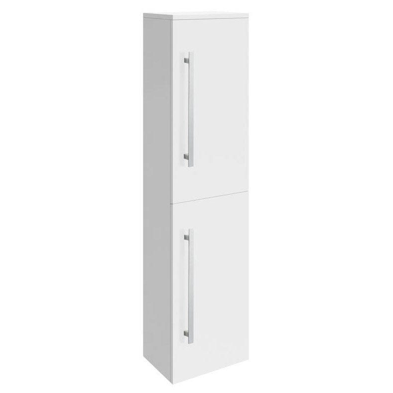 Ultra Design Gloss White Wall Mounted Tall Side Cabinet W350 x D250mm - CAB166 Large Image
