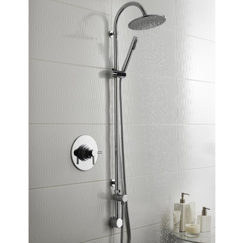 Ultra Destiny Rigid Riser Shower Kit with Concealed Outlet Elbow - Chrome - A3115 profile large image view 2