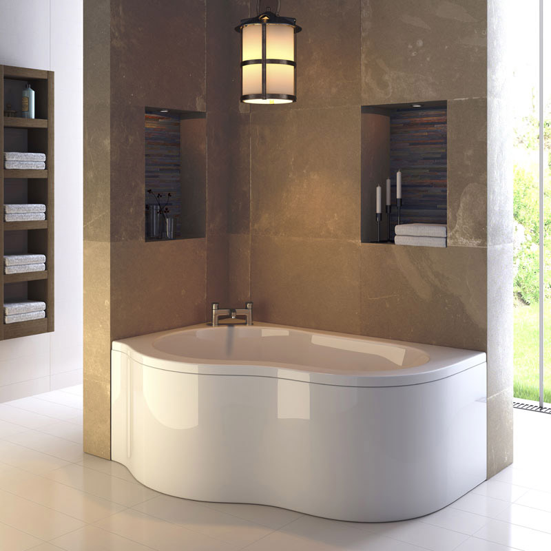 Ultra Estuary Corner Bath with Panel & Legset - Left Hand Large Image