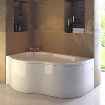Ultra Estuary Corner Bath with Panel & Legset - Left Hand Medium Image