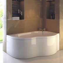 Ultra Estuary Corner Bath with Panel & Legset - Right Hand Medium Image
