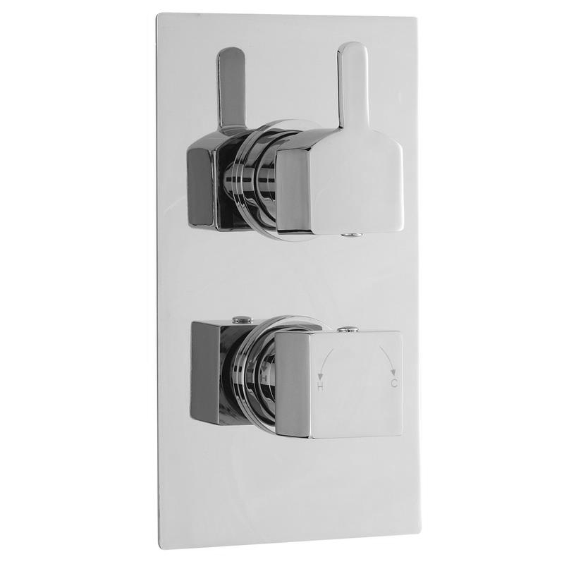 Ultra Falls Concealed Twin Shower Valve with Built-in Diverter - FALV52 profile large image view 1