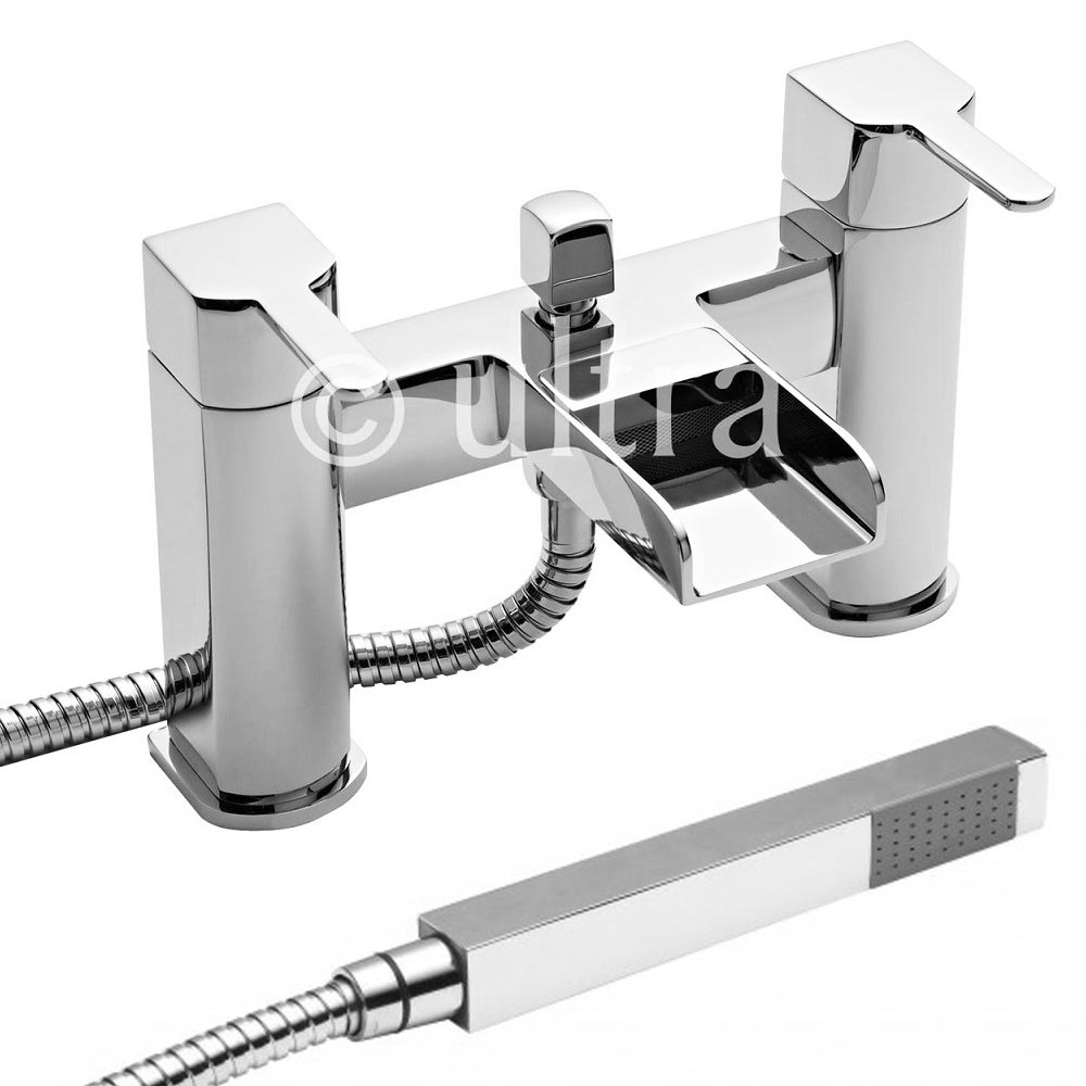 Ultra Falls Waterfall Bath Shower Mixer + Shower Kit - FAL314 profile large image view 1