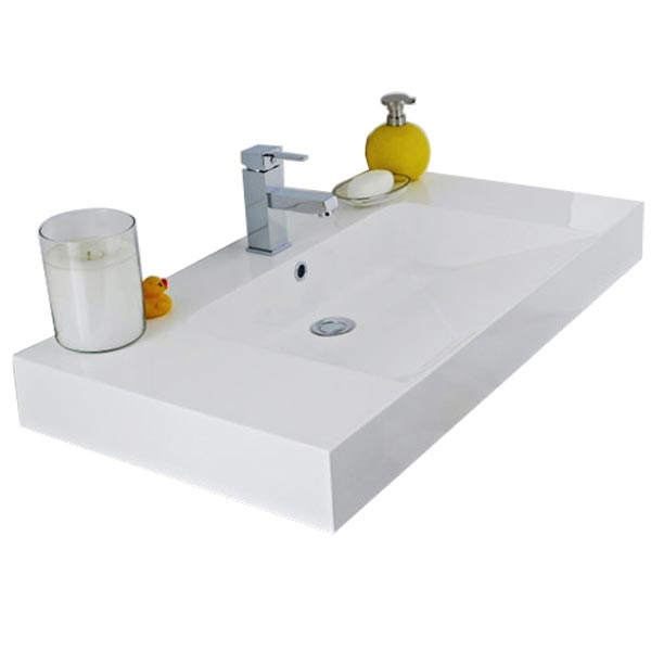 Ultra Harbour 900x480mm Inset Basin - BAS086 profile large image view 1