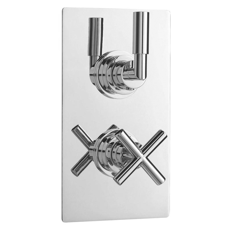 Ultra Helix Concealed Crosshead Thermostatic Twin Shower Valve - HELV51 Large Image