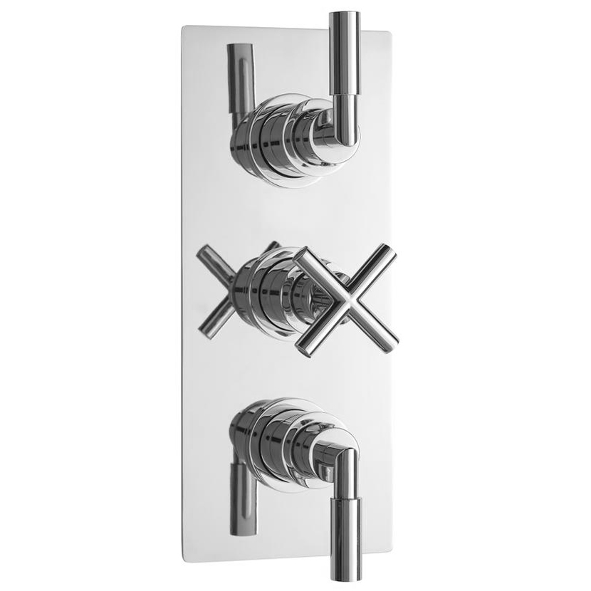 Ultra Helix Concealed Thermostatic Triple Shower Valve - HELV53 Large Image