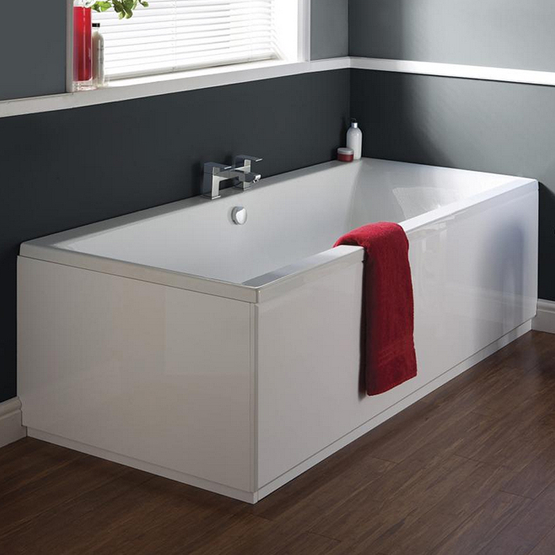 Ultra Jetty Eternalite Square Double Ended Bath & Legset - Various Size Options profile large image view 2
