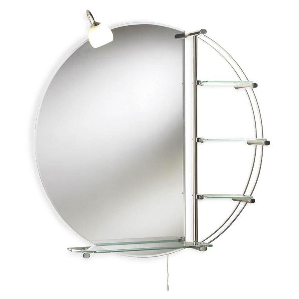 Ultra Magnum Mirror with Light & Glass Shelves - LQ310  Profile Large Image