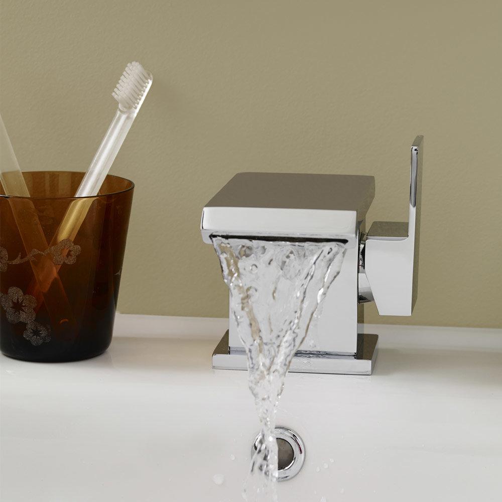 Ultra - Minimalist Side Action Mono Basin Mixer - TMI305 profile large image view 2