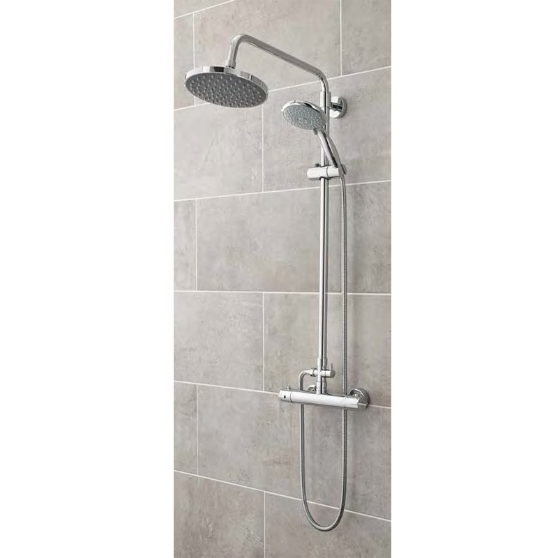 Ultra Minimalist Thermostatic Bar Valve with Telescopic Kit - Chrome - A3558 profile large image view 2