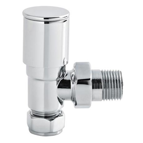Hudson Reed Modern Angled Radiator Valves - Chrome - RV002