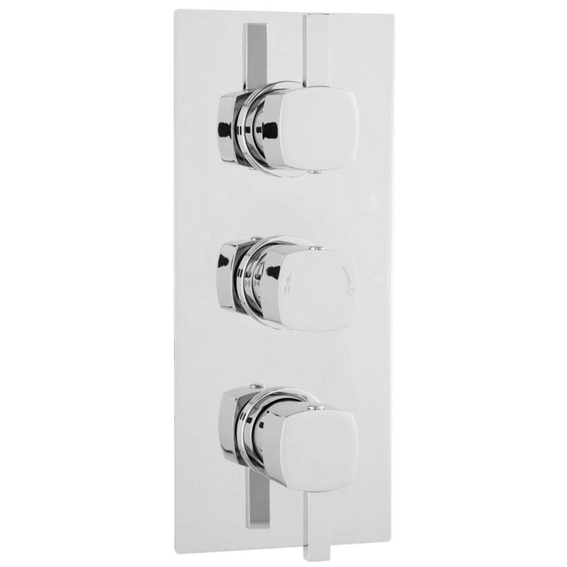 Ultra Muse Concealed Thermostatic Triple Shower Valve with Built-in Diverter Large Image