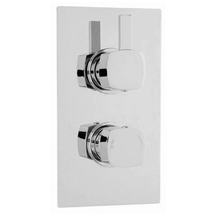 Ultra Muse Concealed Thermostatic Twin Shower Valve - MUSV51 Large Image