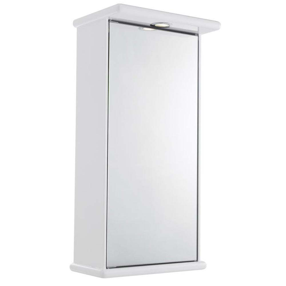 Ultra Niche Single Mirror Cabinet with Light, Shaving Socket and Digital Clock - LQ386 Large Image