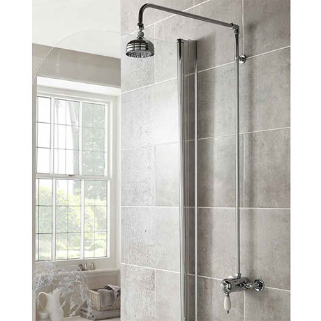 Ultra Nostalgic Manual Shower Valve + Rigid Riser Kit - Chrome