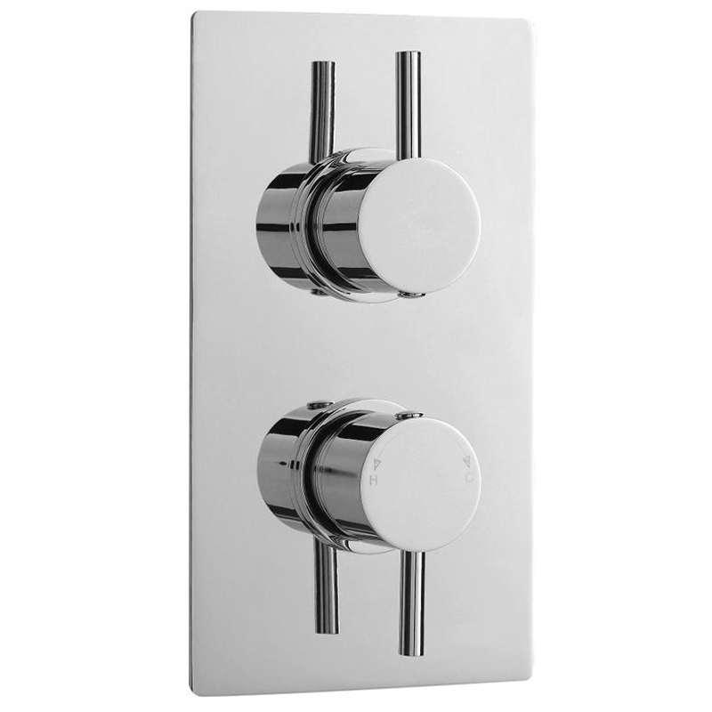 Ultra Pioneer Round Concealed Twin Shower Valve with Built-in Diverter profile large image view 1
