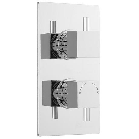 Ultra Pioneer Square Concealed Twin Shower with Built-in Diverter