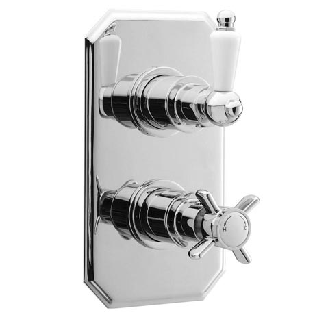 Ultra Pioneer Traditional Concealed Twin Shower Valve with Built-in Diverter