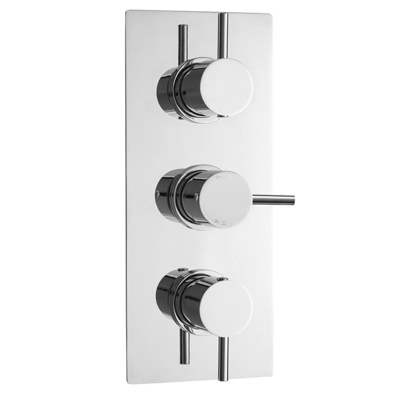 Ultra Quest Rectangular Concealed Thermostatic Triple Shower Valve - QUEV53