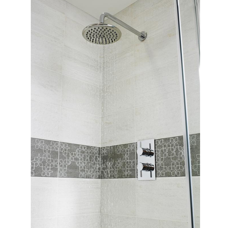 Ultra Quest Rectangular Concealed Thermostatic Twin Shower Valve - QUEV51 Profile Large Image