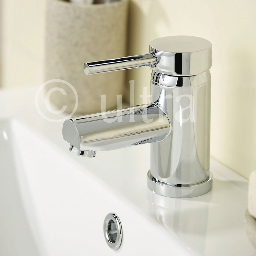 Ultra Quest Series FII Eco-Click Mono Basin Mixer Tap Inc. Waste profile large image view 2