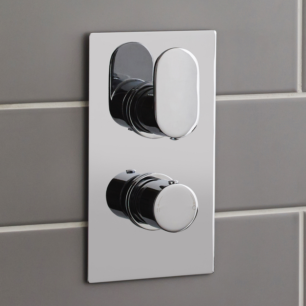 Ultra Ratio Rectangular Concealed Thermostatic Twin Shower Valve - RATV51 profile large image view 2