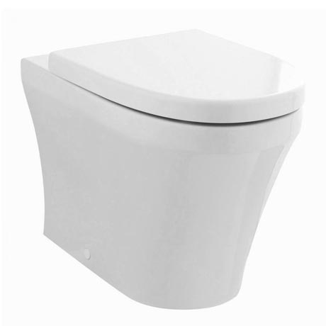Hudson Reed Luna Round Back To Wall Pan with Top-Fixing Soft Close Seat - CPA008
