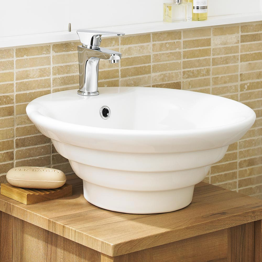 Ultra Round Ceramic Counter Top Basin - NBV006 Large Image